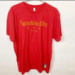Next Level l Pantofola D'Oro Italian Flag T-shirt